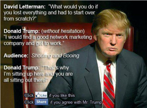 ... Donald Trump MLM Quote is not True | MLM Netwok Marketing Training
